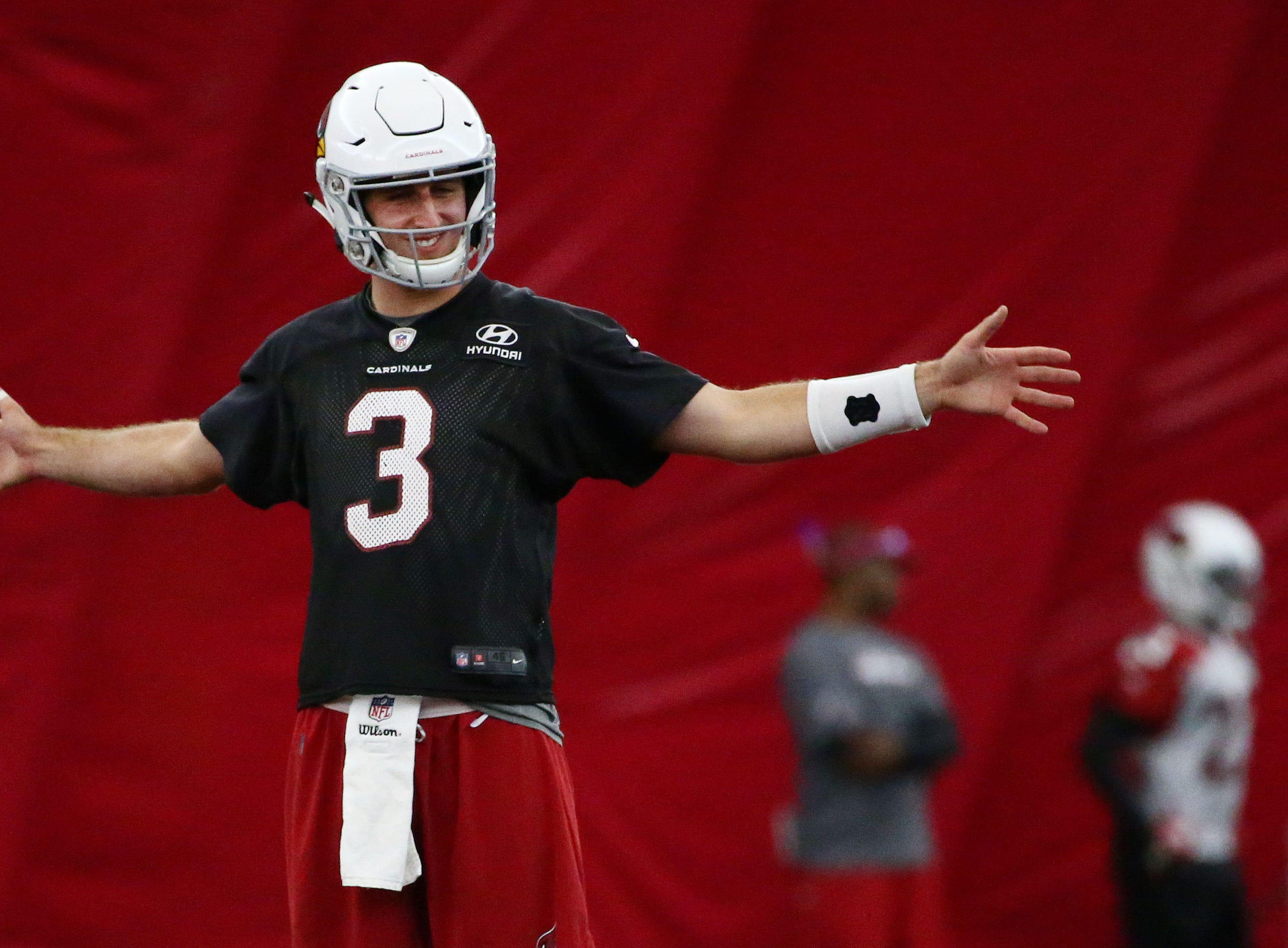 Arizona Cardinals quarterback Josh Rosen on Sep. 19, 2018 at the Cardinals Training Facility in Tempe, Ariz.