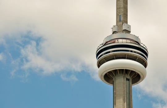 The Edge Walk on CN Tower lacks a handrail, considered standard to most viewing areas more than a thousand feet high.