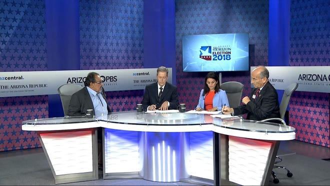 U.S. Rep. Raul Grijalva debates 3rd Congressional District challenger Nick Pierson on Arizona PBS Tuesday, Sept. 18, 2018.
