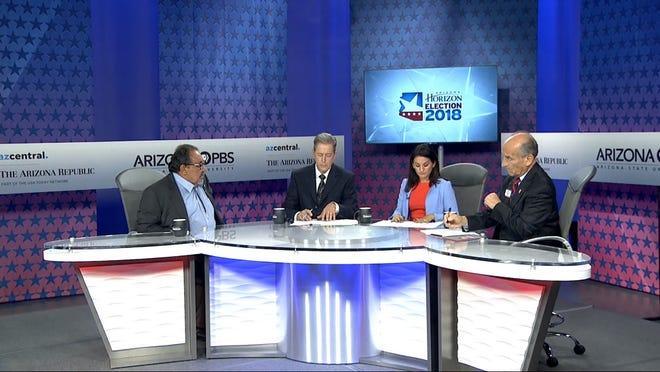 U.S. Rep. Raul Grijalva debates 3rd Congressional District challenger Nick Pierson on Arizona PBS Tuesday, Sept. 18, 2018.