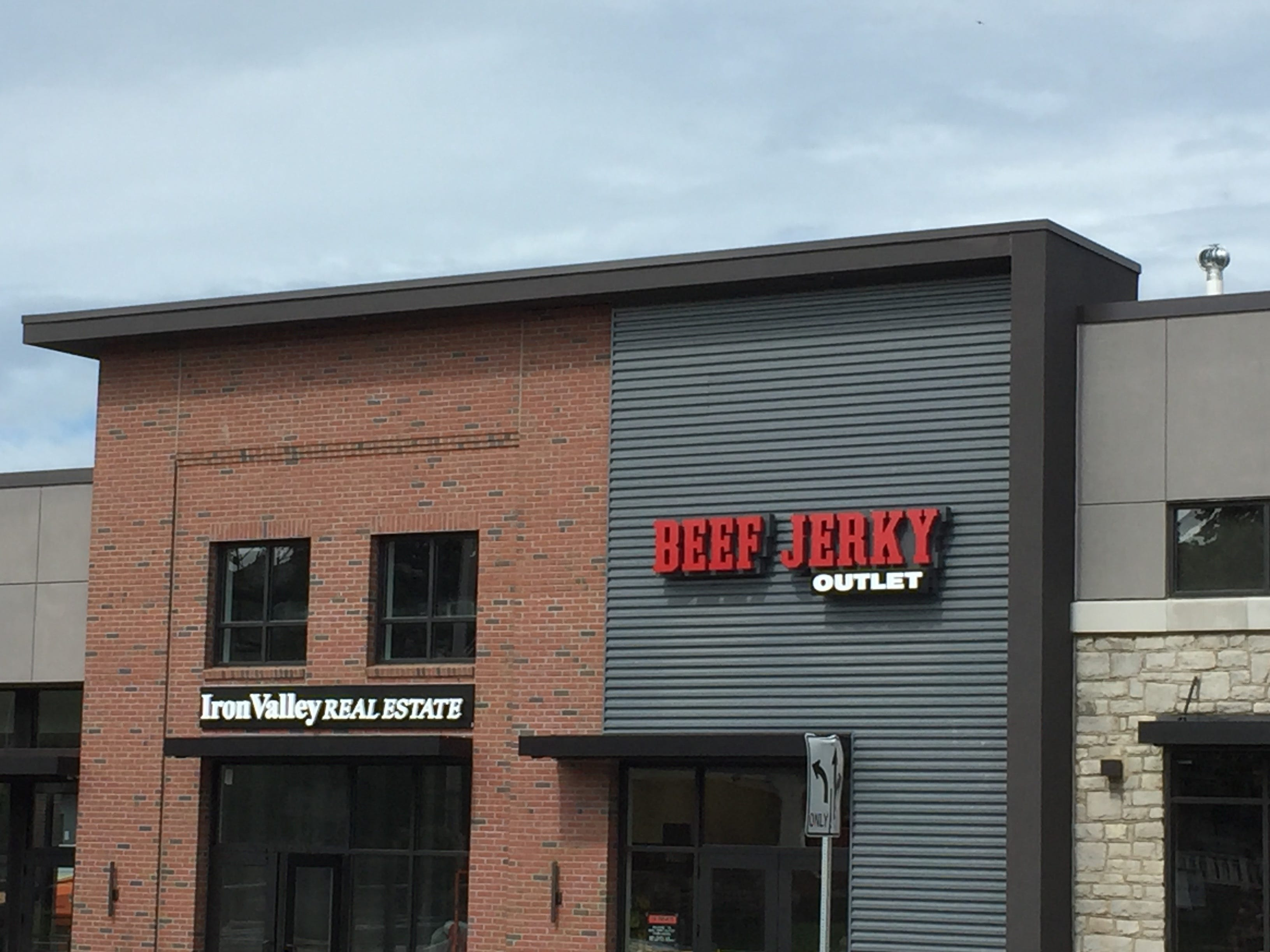 Iron Valley Real Estate and Beef Jerky Outlet are both nearing completion.