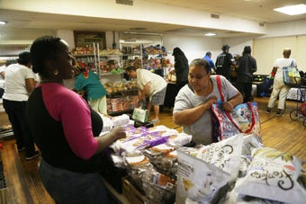 The Trinity Temple Seventh Day Adventist Food Pantry in the City of Poughkeepsie feeds many families in need of additional food.