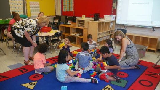 Poughkeepsie's Early Learning Center students attend orientation on Aug. 28, 2018, before the new year begins.