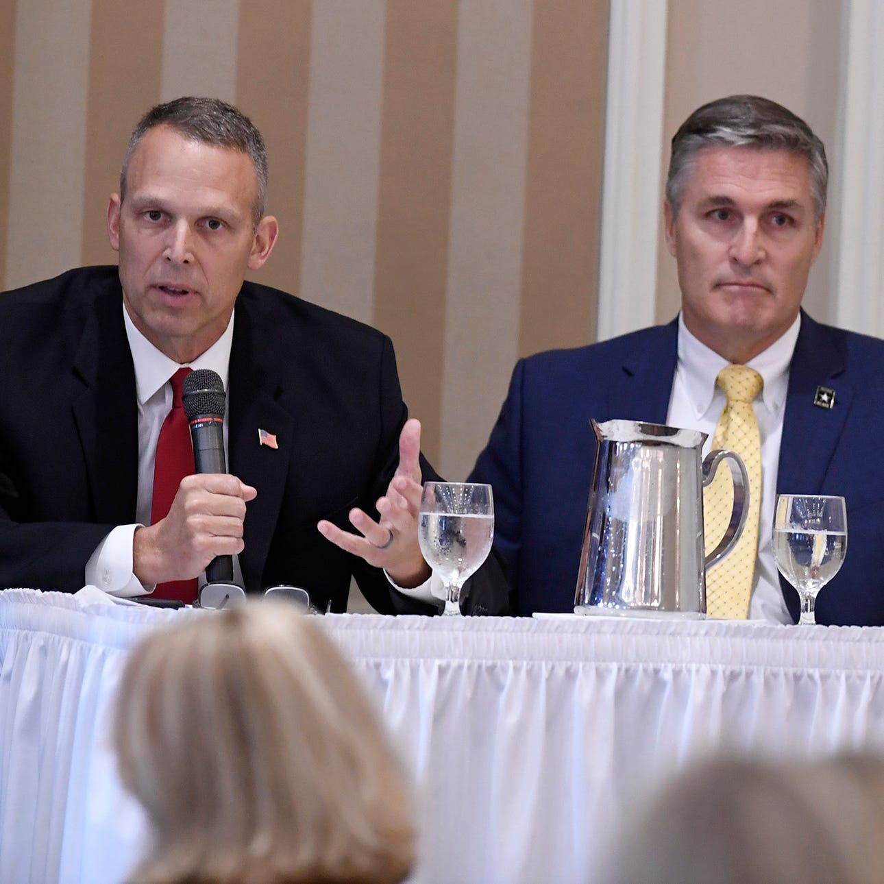 Rep. Scott Perry, George Scott clash over Freedom Caucus during debate