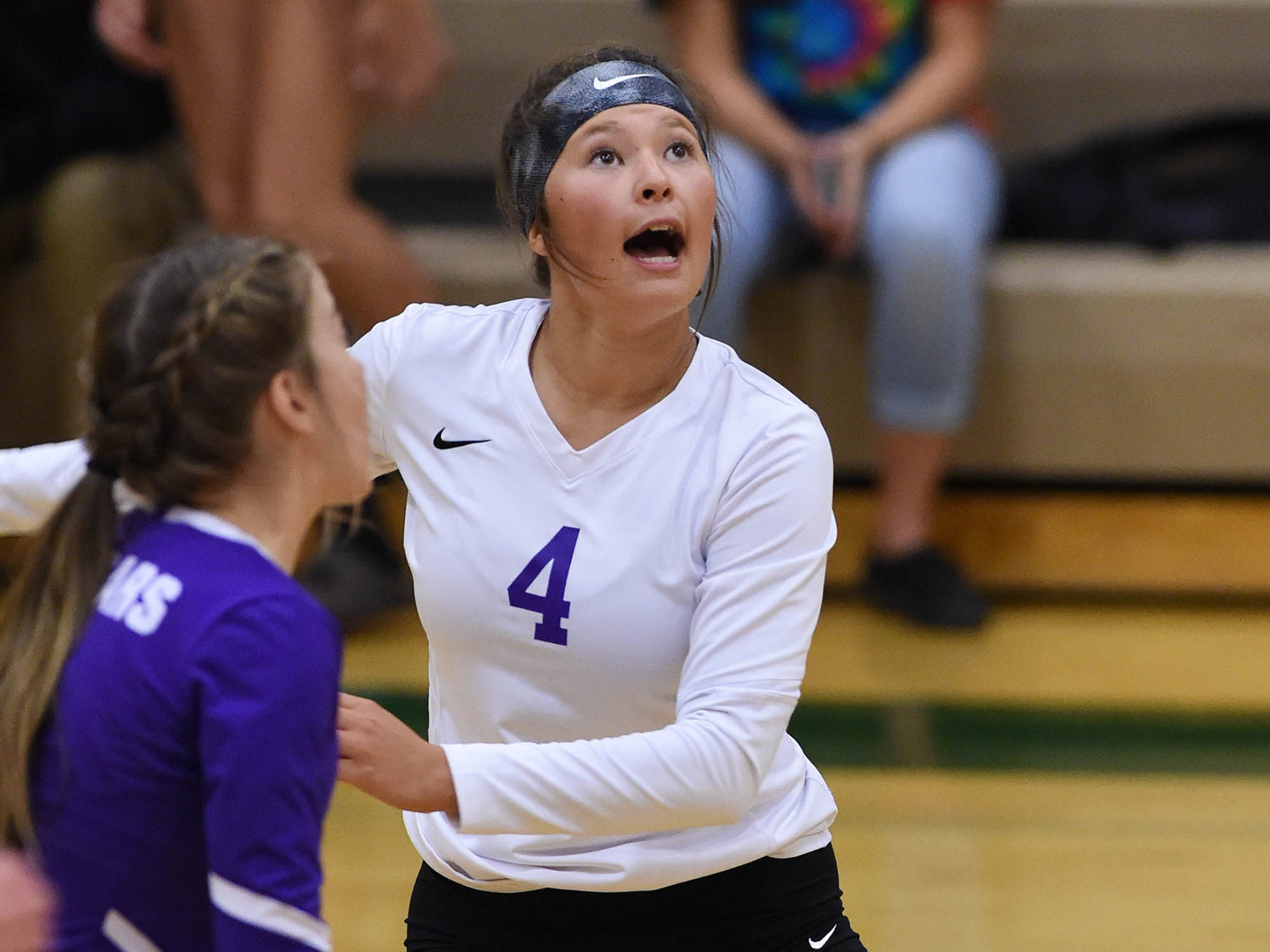 Action Photos of the Spanish Springs at Bishop Manogue volleyball game on Tuesday Sept. 18, 2018.
