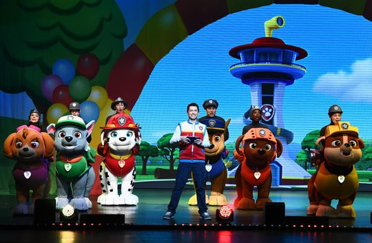 """""""PAW Patrol Live! Race to the Rescue"""" comes to the Auditorium Theatre Saturday and Sunday, Feb. 23 and 24."""