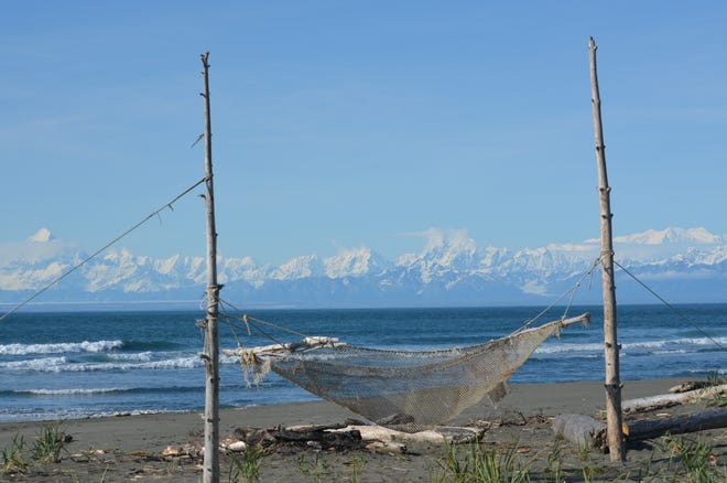 Even the scenery is big in Alaska, such as this view on a beach near Yakutat.