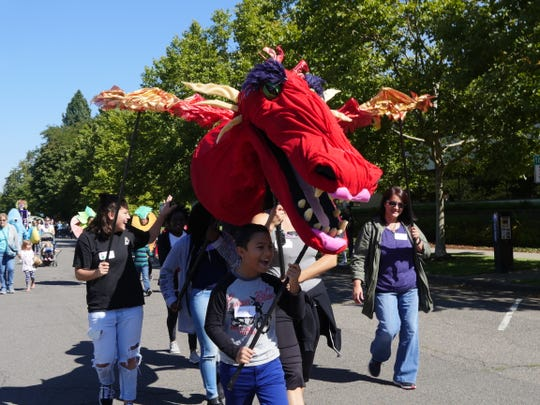 All are invited to participate in the Salem Puppet Parade, a larger than life puppet display. Join in the fun with your own puppet, volunteer to be a puppeteer, or cheer on performers down Winter Street.