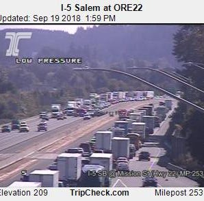 Crash slowing traffic on I-5 near Mission Street, Hwy 22 exit