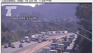 Crash slowing traffic on I-5 near Mission Street, Hwy 22 exit
