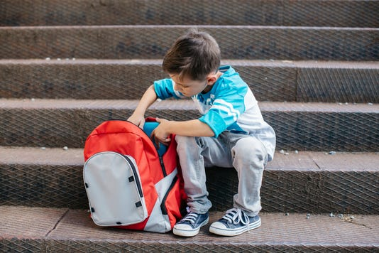 Make sure your child is wearing their backpack properly and isn't carrying too much weight.