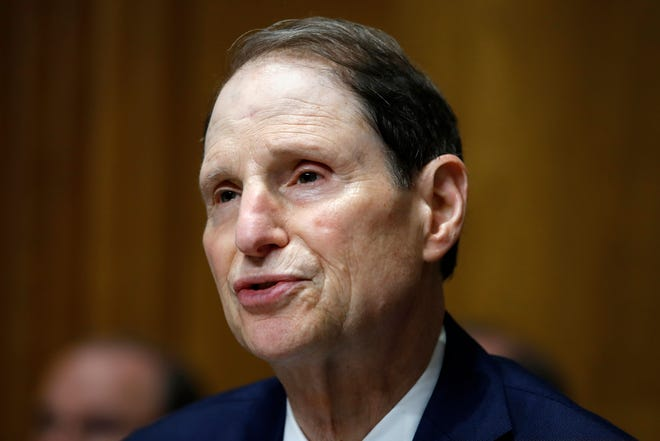 In this June 28, 2018, file photo, Sen. Ron Wyden, D-Ore., ranking member of the Senate Finance Committee, speaks during a hearing on the nomination of Charles Rettig for Internal Revenue Service Commissioner on Capitol Hill in Washington. Wyden is proposing new legislation that would allow the Senate's Sergeant at Arms to spend taxpayer money protecting senators' private email accounts and personal devices amid persistent anxieties over the digital security of the American midterm vote.