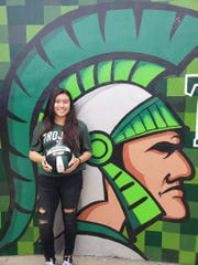 Alisal junior Yesenia Tijerina, shown here in fall when she starred on the volleyball court, has scored at will on the pitch this season for the Trojans.