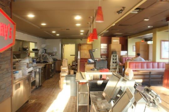 The interior of Denny's, 427 W Ave I, is getting remodeled. Denny's will reopen Saturday, Sept. 19, 2018.