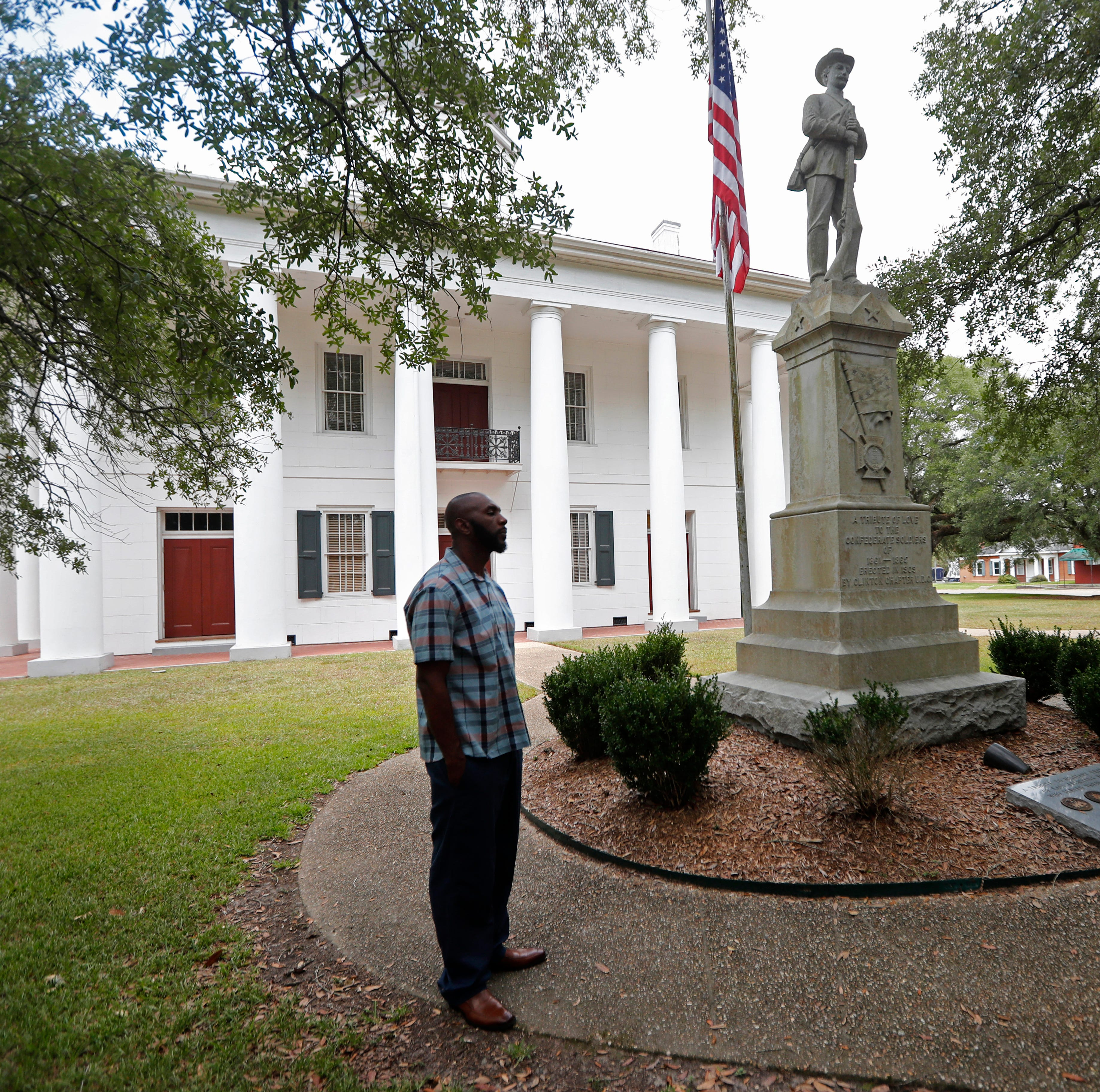Lawyer says client can't get fair trial at courthouse with Confederate statue