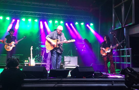 """John Daly performs """"Knocking on Heaven's Door"""" at the Sanford House on Tuesday night."""