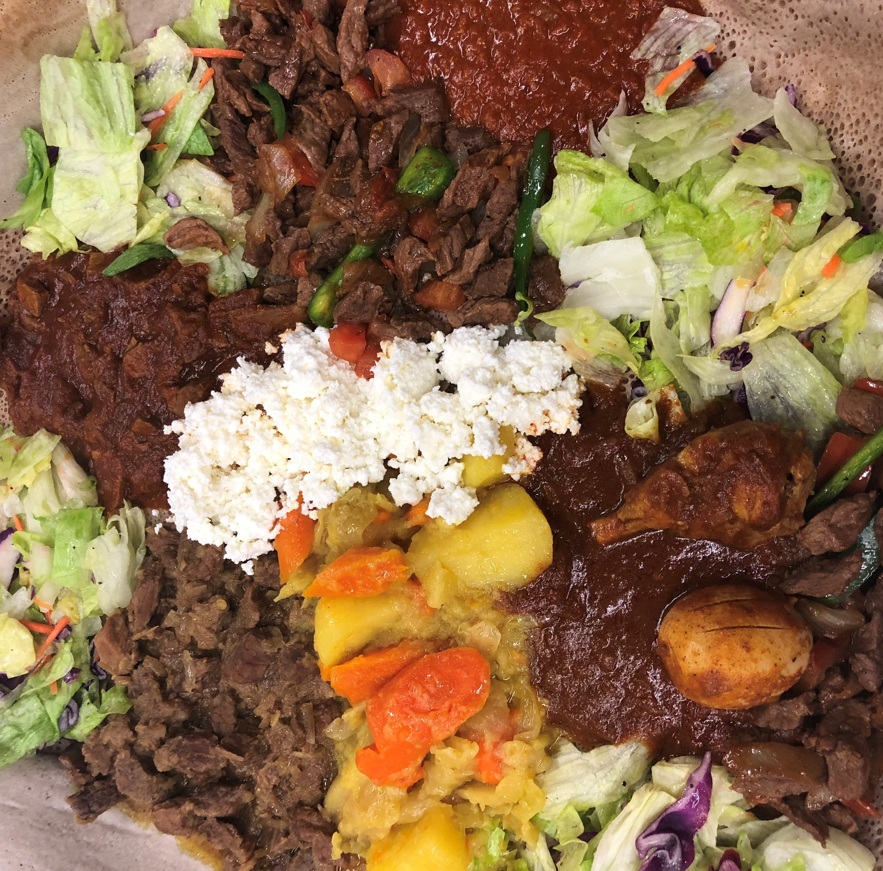 Secret Fork: Try a platter of Ethiopian food with friends at Lalibela