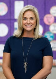 Springfield National Education Association president Sarah Schofield in her classroom at Sequiota Elementary.