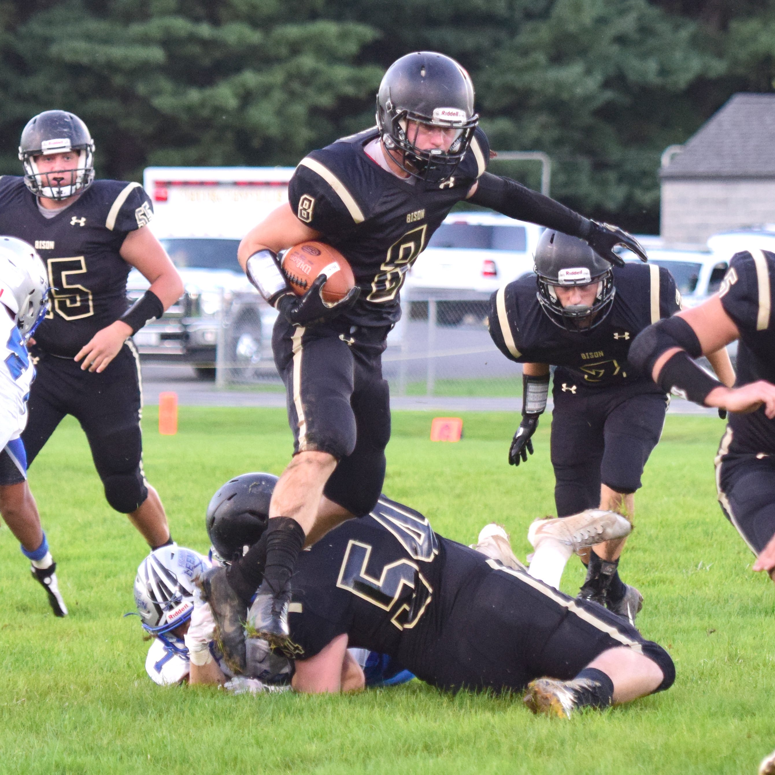 Defensive stand, Rivenburg's fourth TD propel Buffalo Gap past Robert E. Lee