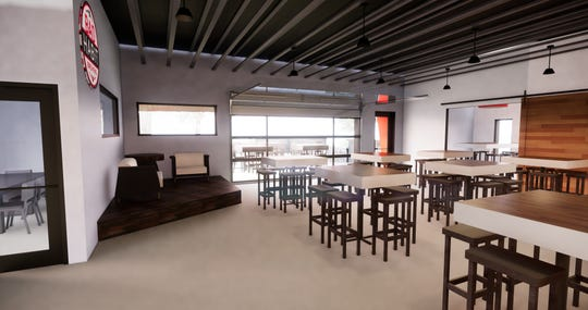 Renderings show plans for the interior of the new home of Bad Habit Brewing.