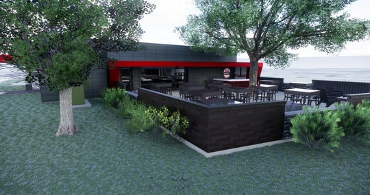 A patio with room for 100 guests is planned for the new home of Bad Habit Brewing.