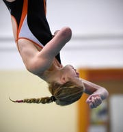 Tech's Meredith Matchinsky competes during the Tuesday, Sept. 18 meet against Buffalo at Tech High School in St. Cloud.