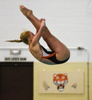 Tech's Meredith Matchinsky competes during the Tuesday, Sept. 18, 2018 meet against Buffalo at Tech High School in St. Cloud.