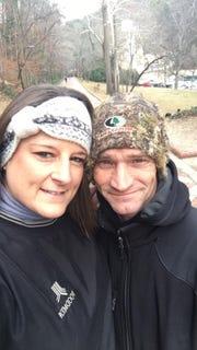 Jockey Alex Birzer and his wife of 21 years, Bonnie Birzer.