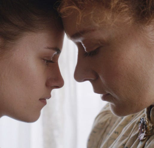"Kristen Stewart, left, and Chloe Sevigny  star in ""Lizzie,"" opening Friday."