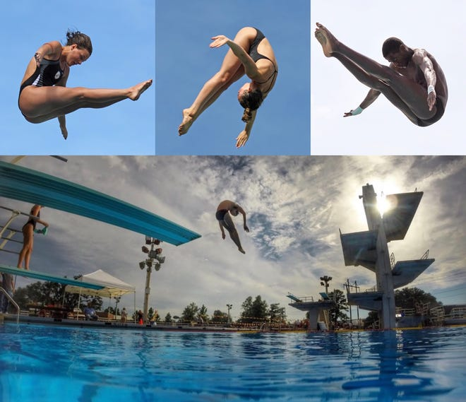 Chiles' Rainey Vause, Maclay's Kendall Minter, and Leon's Taj Cole are among the state title hopefuls this year in diving.
