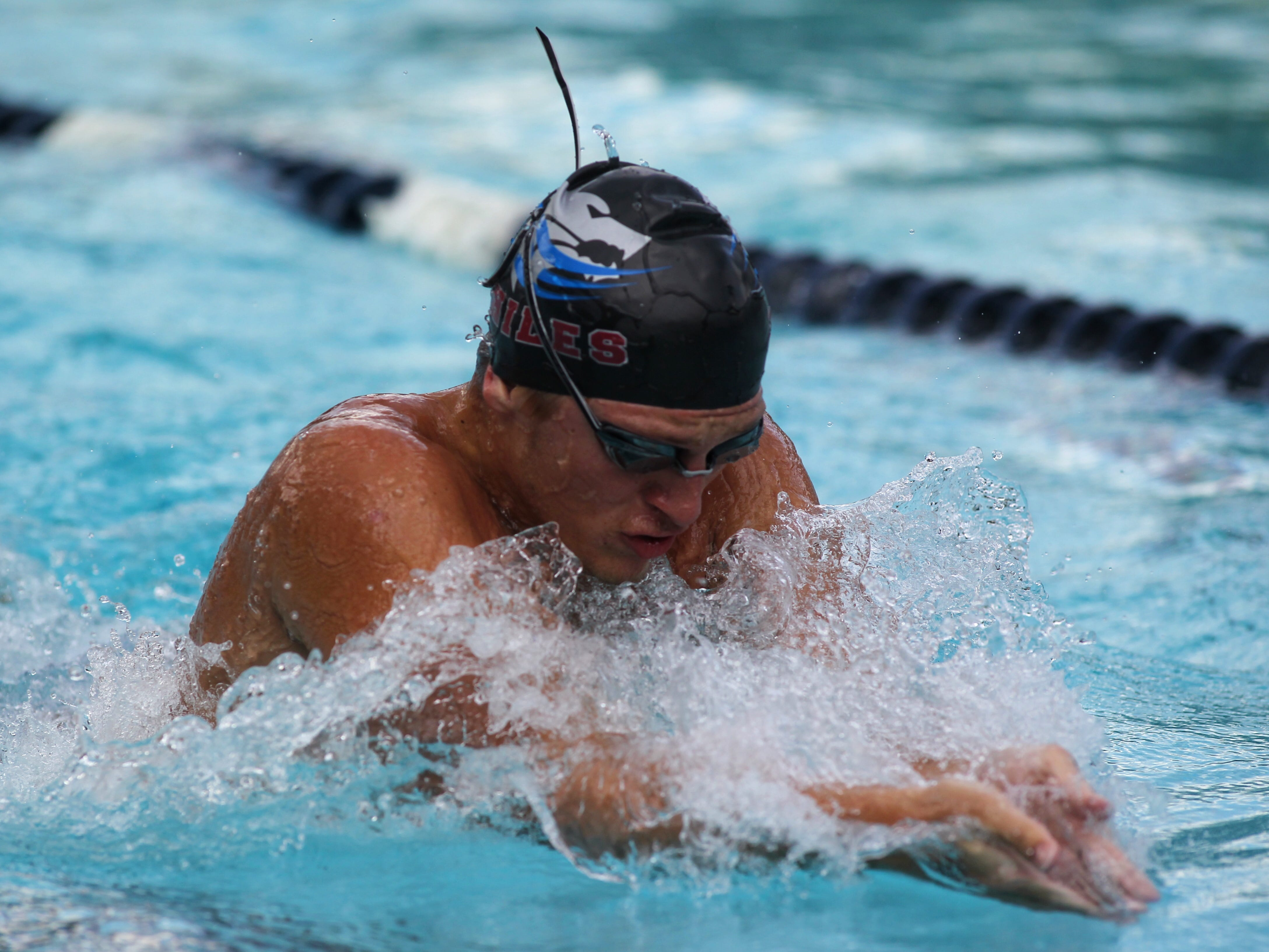 Chiles' Parker Brown swims breaststroke during a recent swim meet.