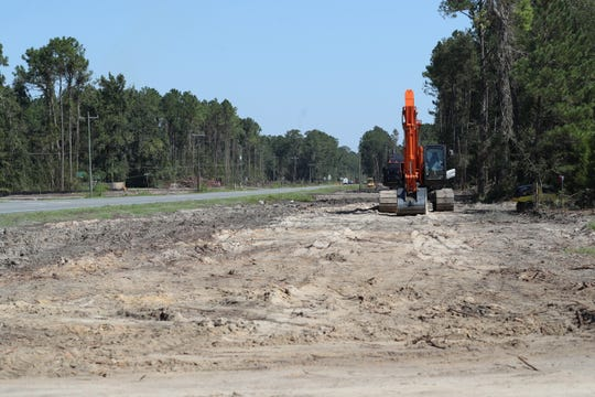 Highway widening construction along State Road 61on September 19, 2018.