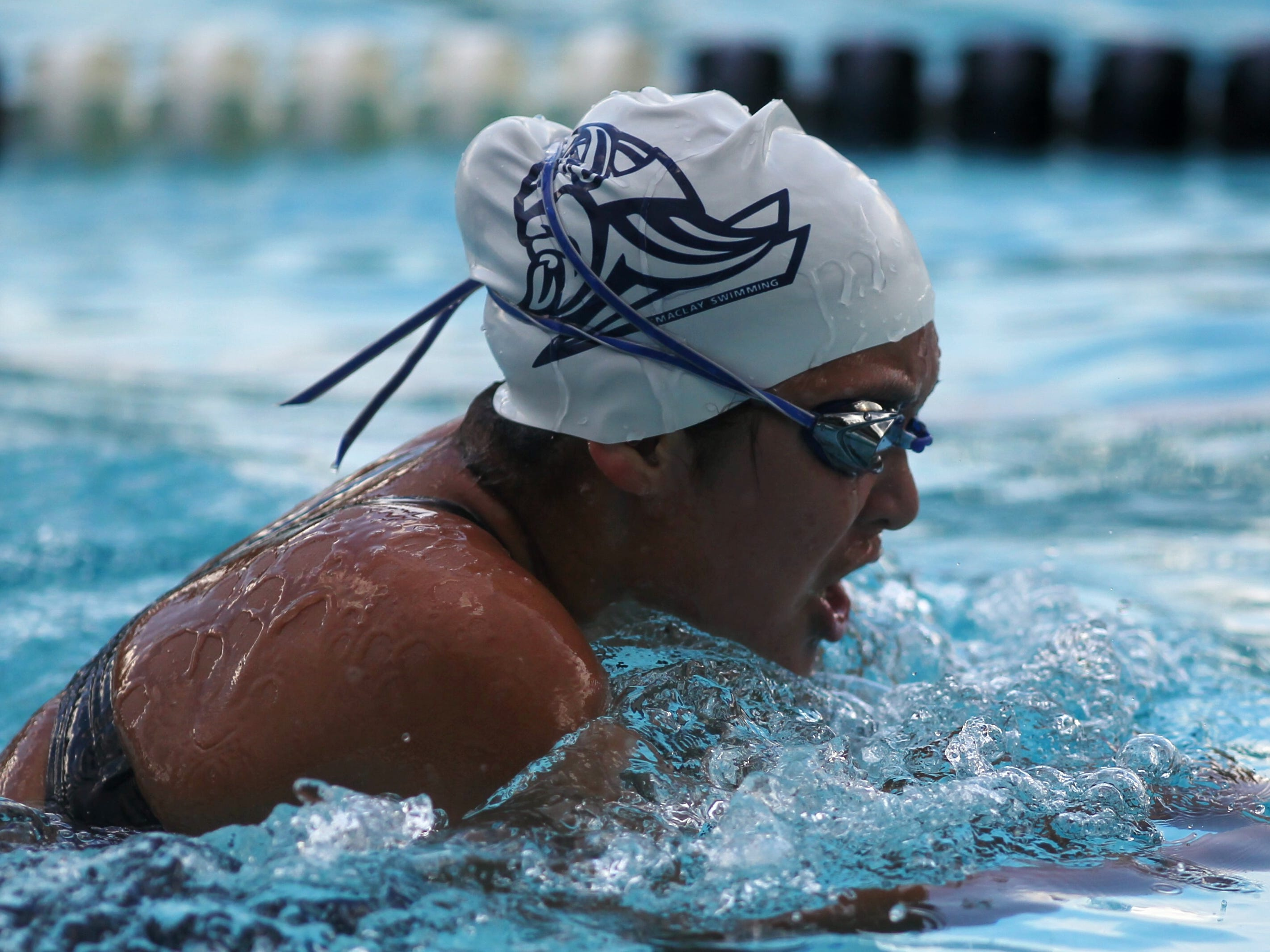 Maclay's Zara Jaffe swims breaststroke in the 200 IM during a recent swim meet.