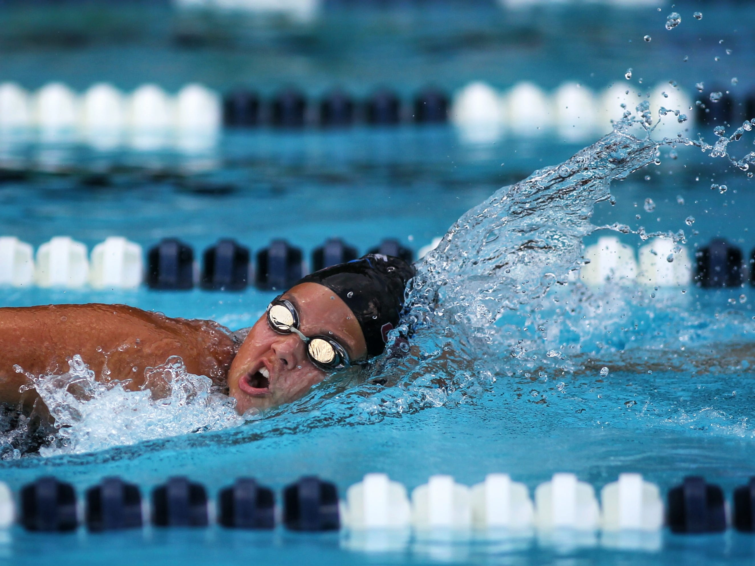 Chiles' Katherine Gonzalez swims the 50 freestyle during a recent swim meet.