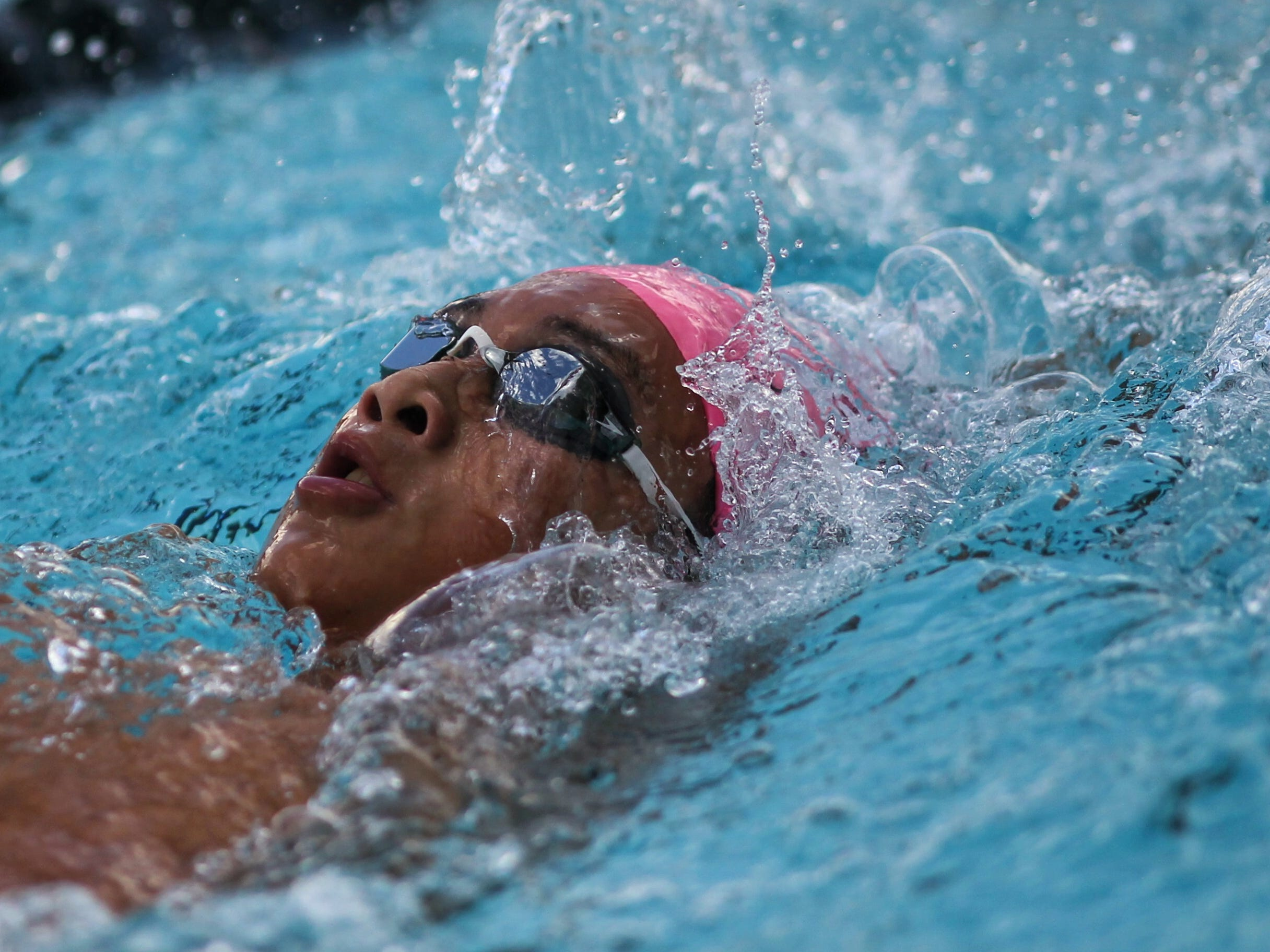 Chiles' Alexander Yuan swims backstroke in the 200 IM during a recent swim meet.
