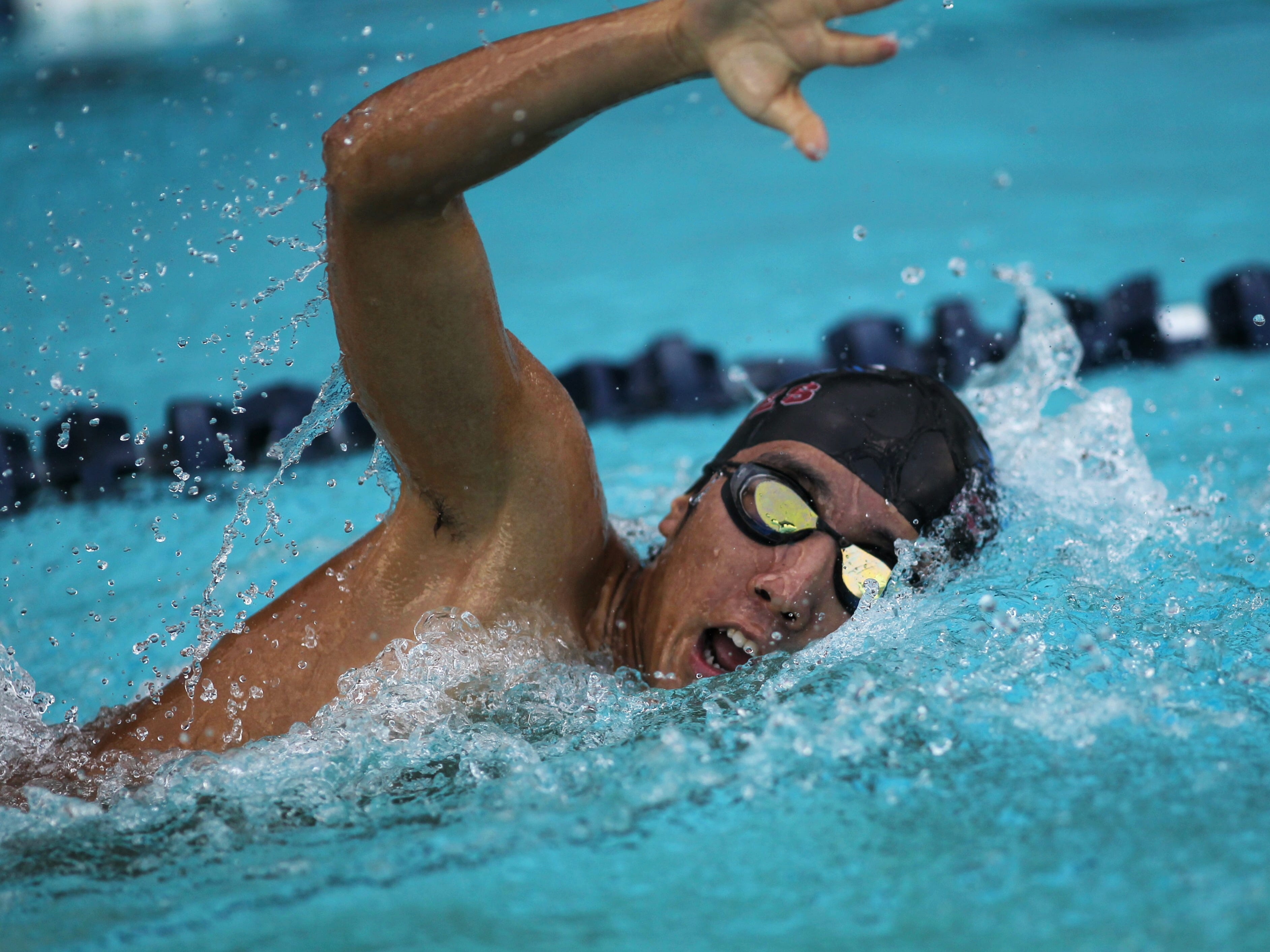 Chiles' Hayden Kwan swims fresstyle in the 200 IM during a recent swim meet.