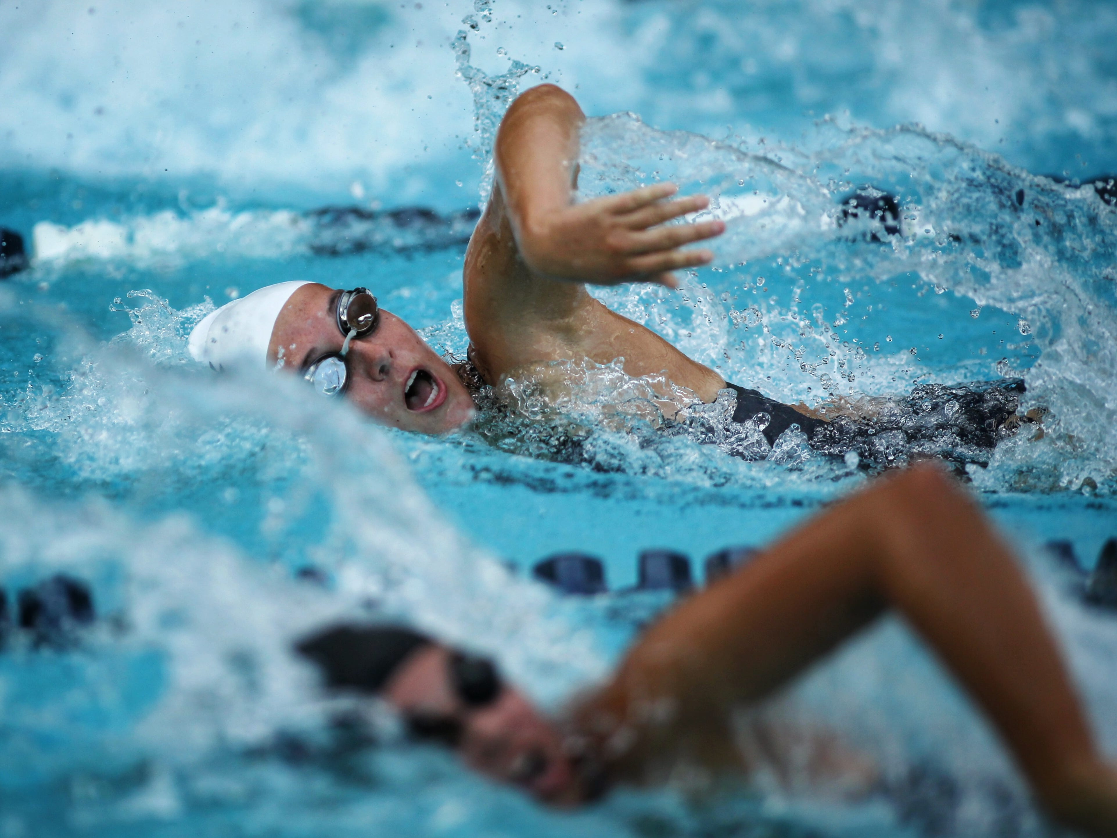 Maclay's Daniela Paredes swims the 50 freestyle during a recent swim meet.