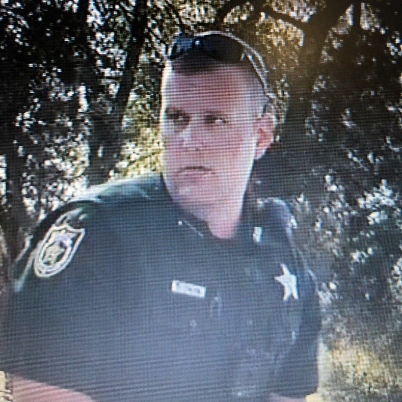Jackson County Sheriff's Office Deputy Zachary Wester as seen in a dash cam video.