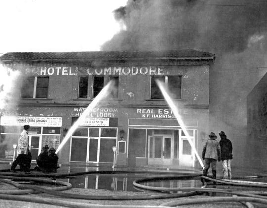 Commodore Hotel fire in January 1959.
