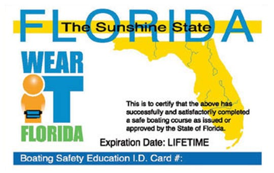 Boaters born after Jan. 1, 1988 need to  pass a safe boating course in order to obtain a Florida boater's ID card.