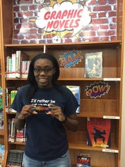 Judith Darville was the Teen Reading Challenge Winner at the Pruitt Campus Library.