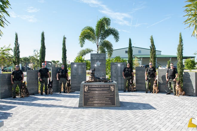A K-9 memorial was unveiled Sept. 19, 2018 at the Indian River County Sheriff's Office.