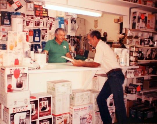 Richard Ferretti, Sr. at the counter at Hoppe's, circa 1990.