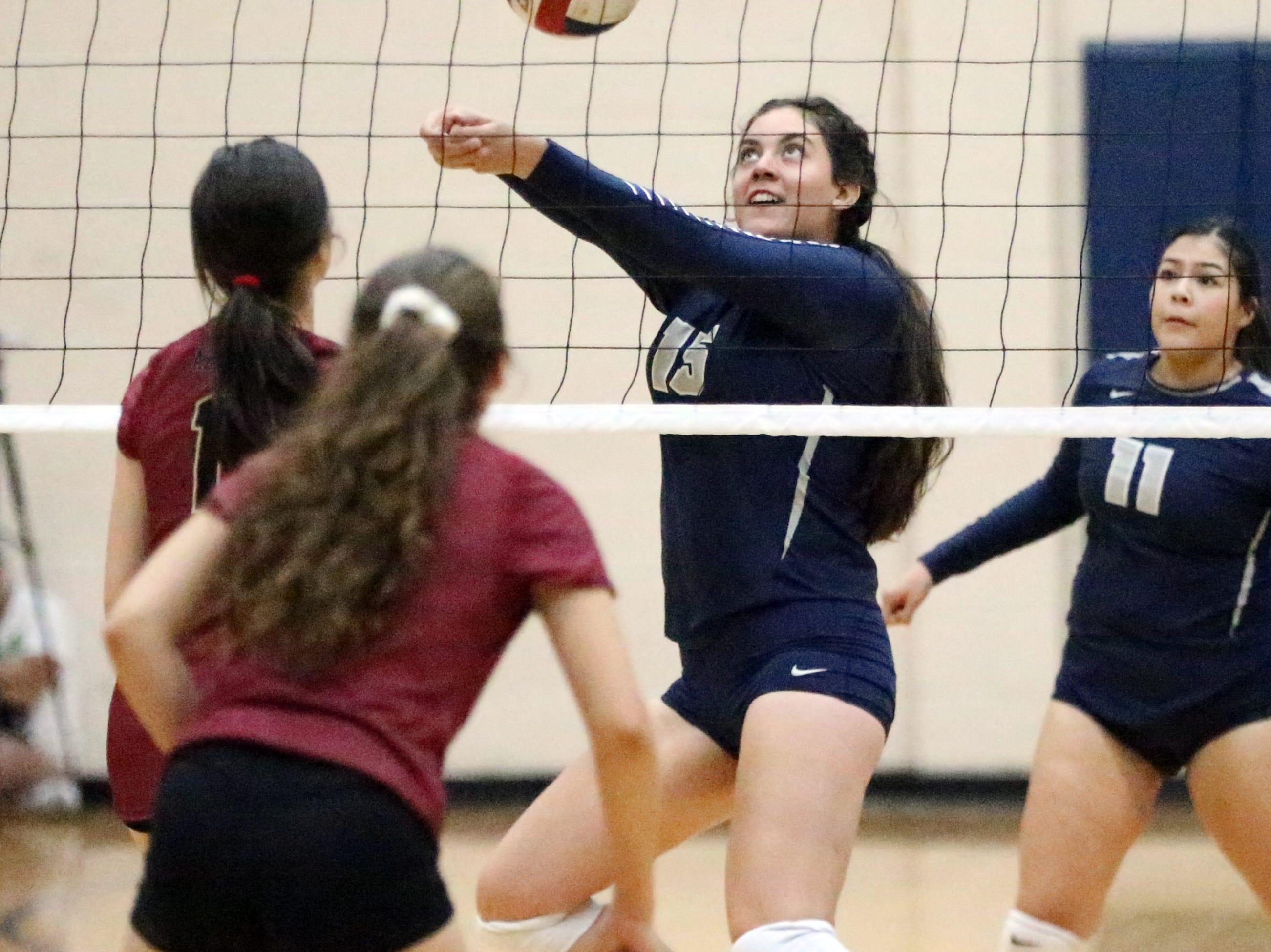 Del Valle hosted El Dorado in prep volleyball Tuesday night. El Dorado prevailed in three sets.