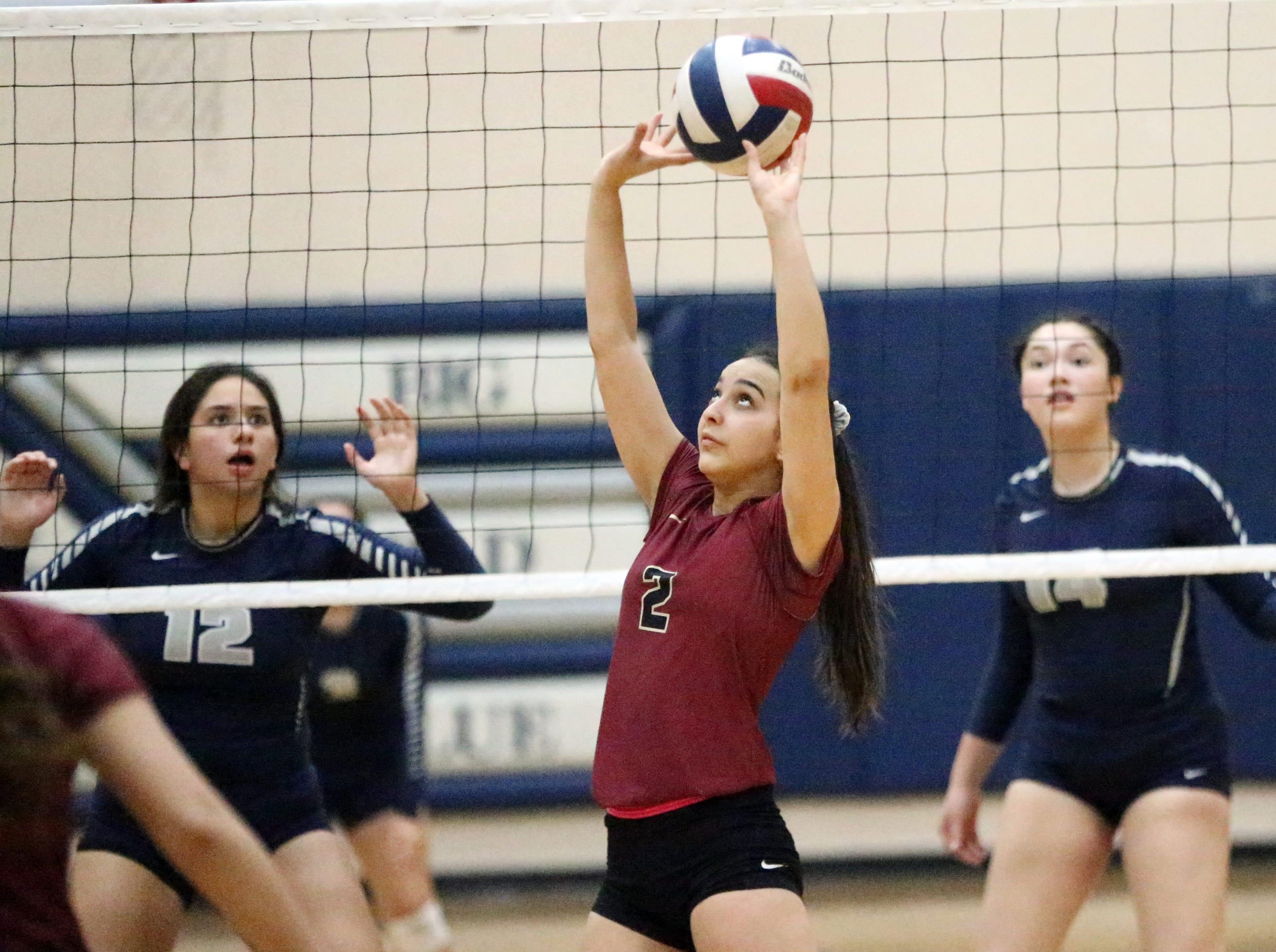 Del Valle hosted El Dorado in high school volleyball Tuesday night. El Dorado prevailed in three sets.