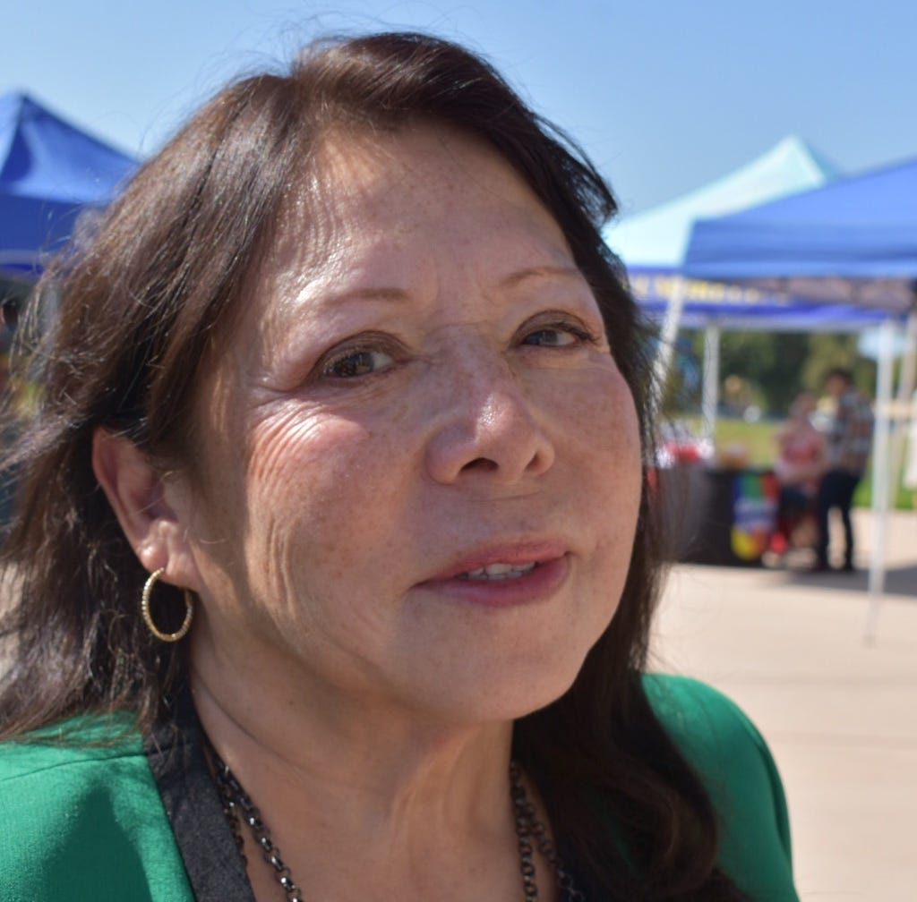 Oxnard College President Cynthia Azari told the nearly 400 people at a prevention suicide forum that her younger sister ended her life.