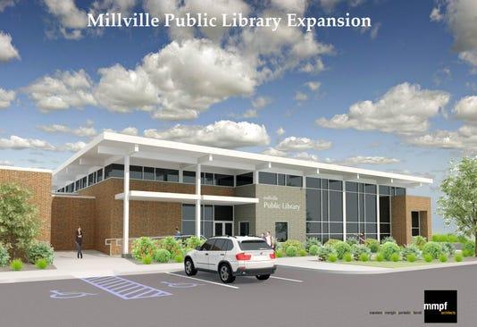 Millville Public Library Main Entrance