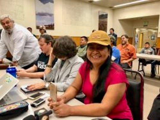 Gerawan employees listen as their votes to oust UFW are tallied five years after casting them