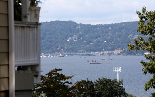 The cell tower is seen from Grove Street in Tarrytown Sept. 19, 2018. The MTA, which is exempt from local zoning, put up a cell tower right next to the Franklin Courts low-income housing complex and playground, and residents are concerned for their safety.
