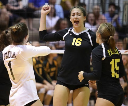 Padua returns one of the state's top offensive threats in outside hitter Jessica Molen (16).